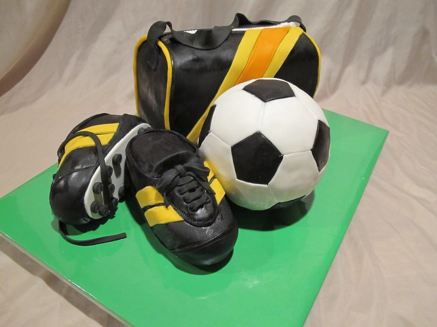 Soccer Equipment on Cake Central