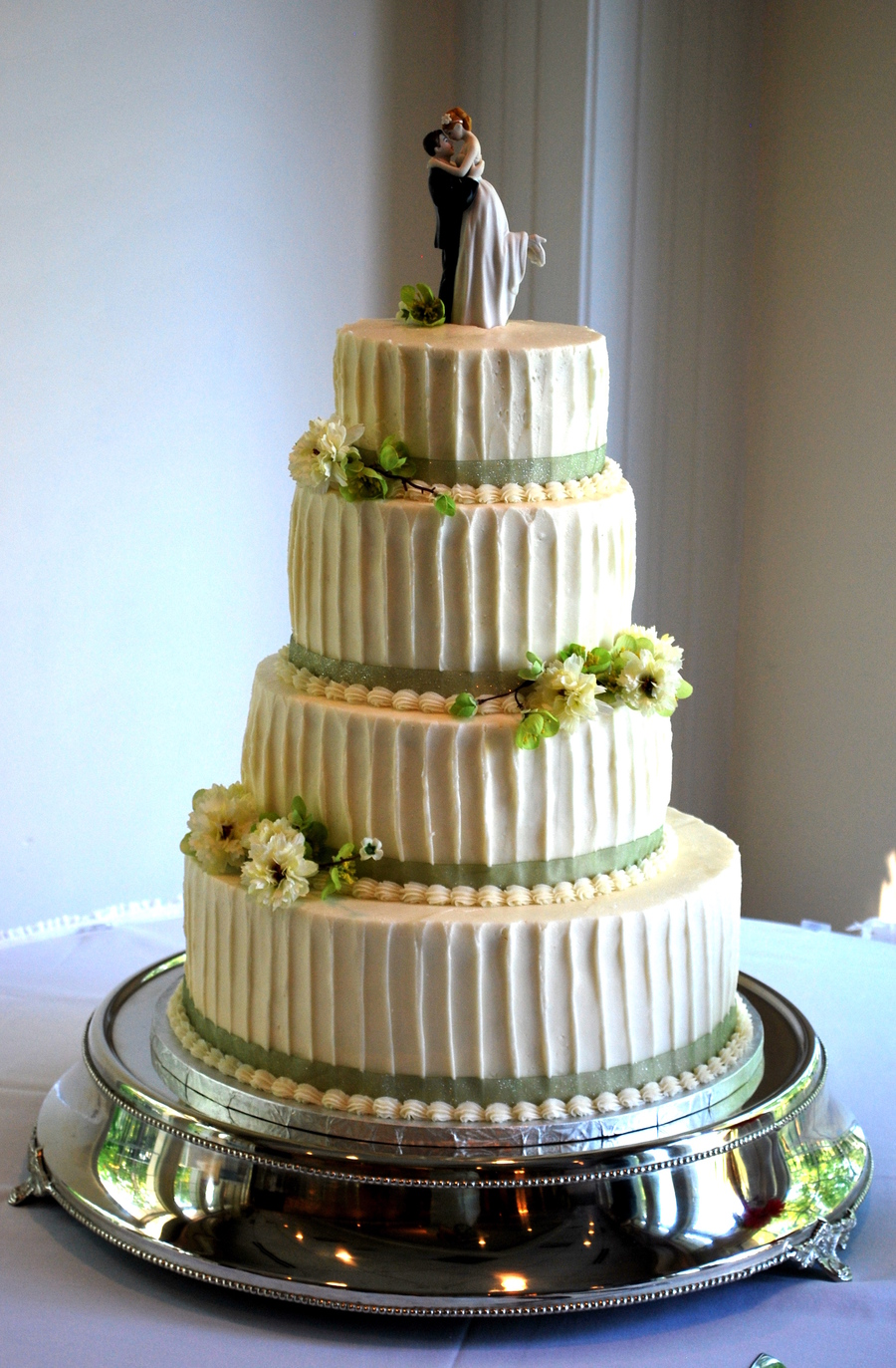 Textured Wedding Cake on Cake Central