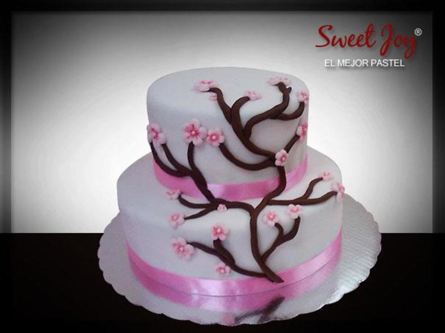 Simple Cherry Blossoms on Cake Central