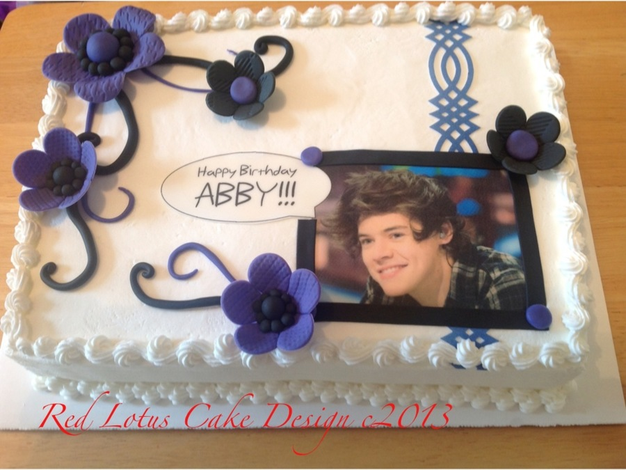 Terrific Harry Styles Birthday Cake Cakecentral Com Funny Birthday Cards Online Eattedamsfinfo