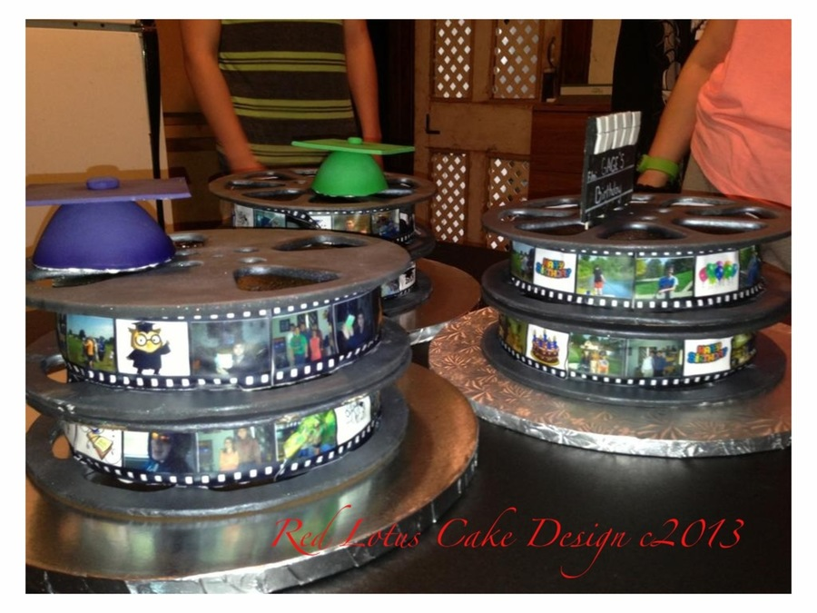 Movie Reel Graduation on Cake Central