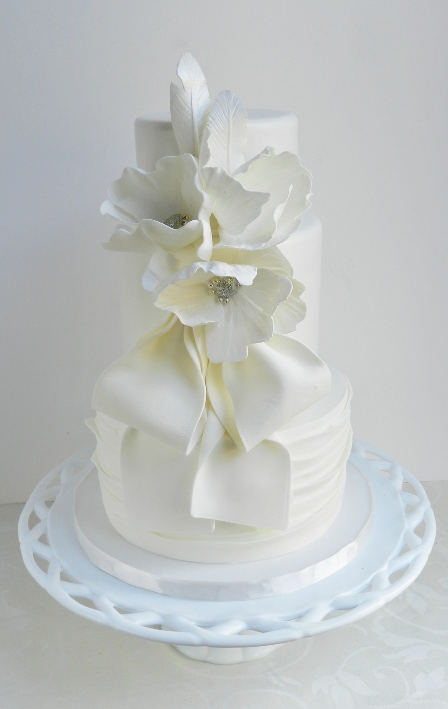 Rustic White Glam on Cake Central