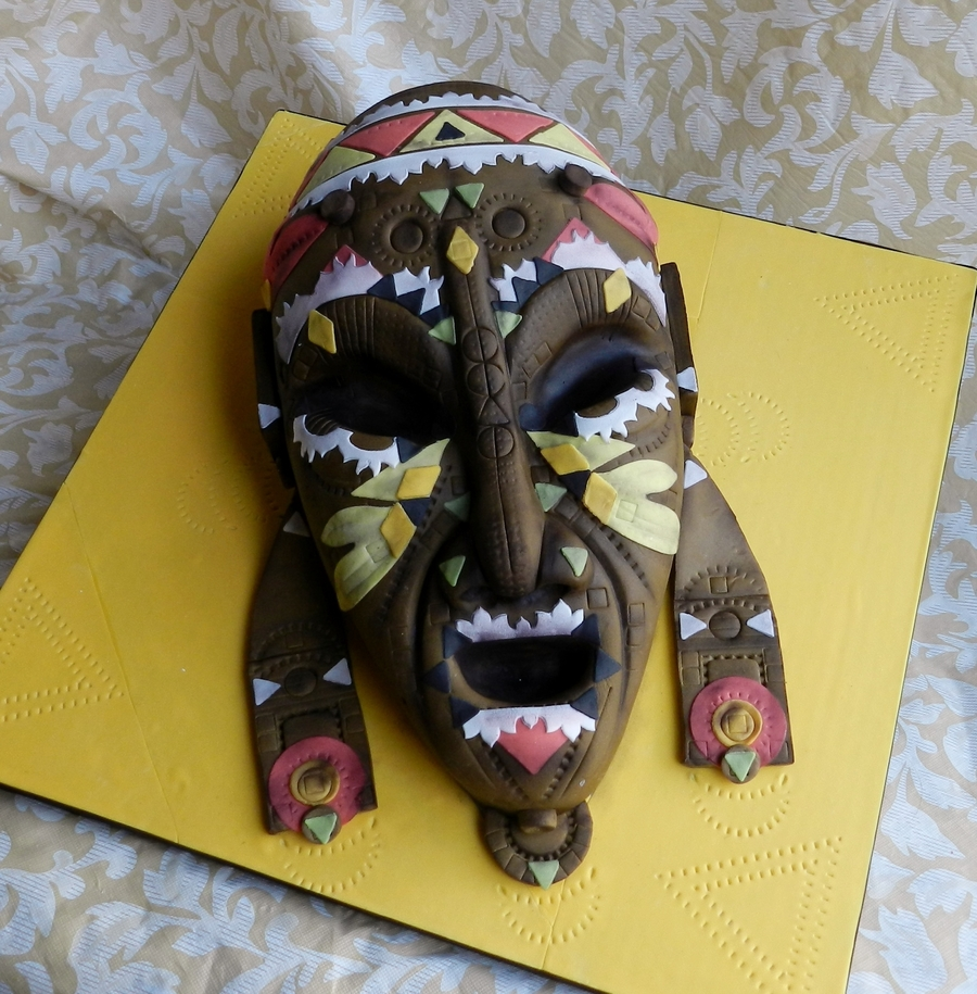 African Mask on Cake Central