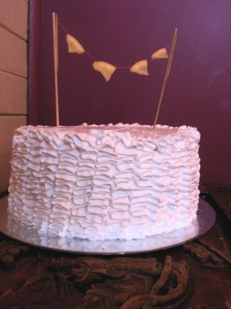 Lemon Meringue Ruffle Cake on Cake Central
