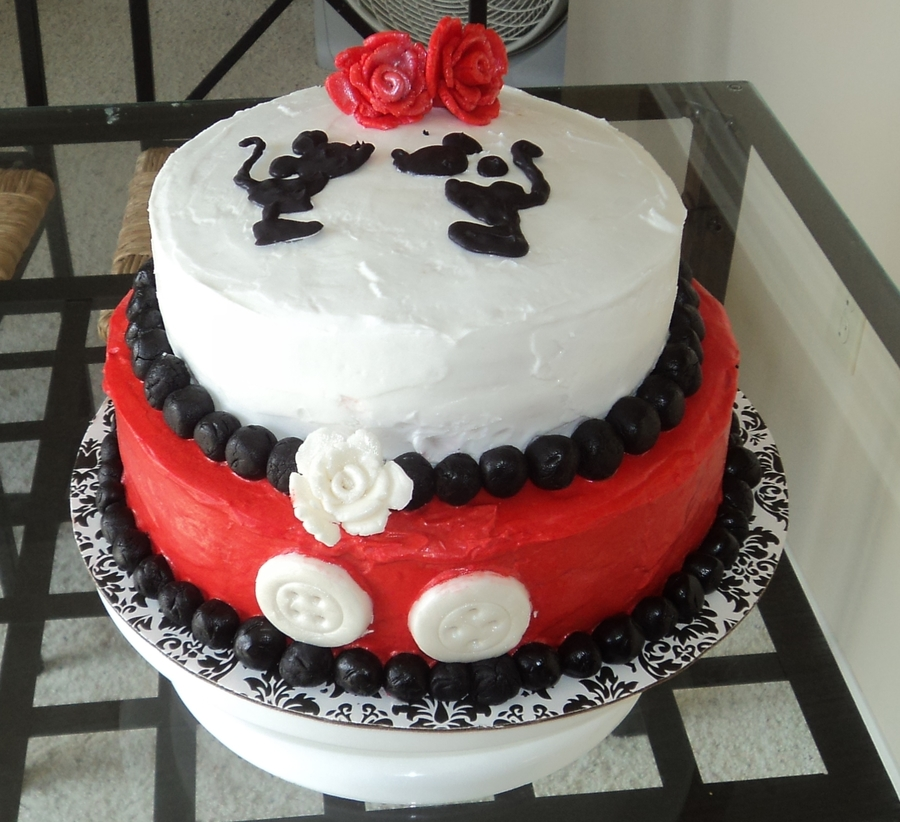 Mickey Themed Bridal Shower Cake on Cake Central