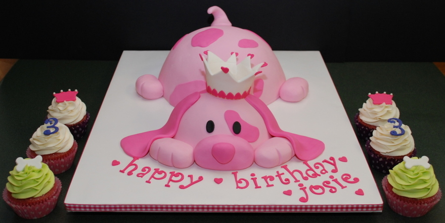 Pink Puppy Princess Birthday Cake On Central
