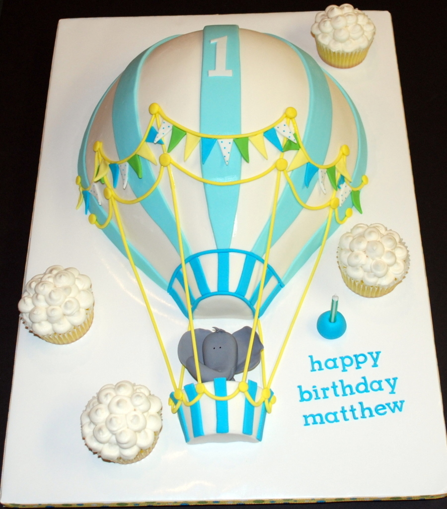Cake Decorating Hot Air Balloon : Hot Air Balloon Birthday Cake - CakeCentral.com