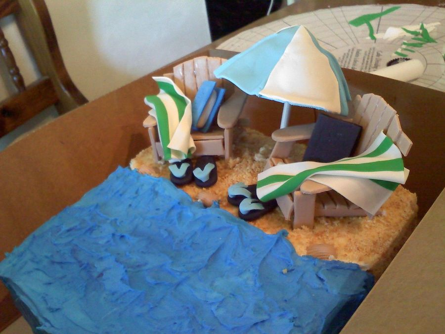 Beach Scenery Cake on Cake Central