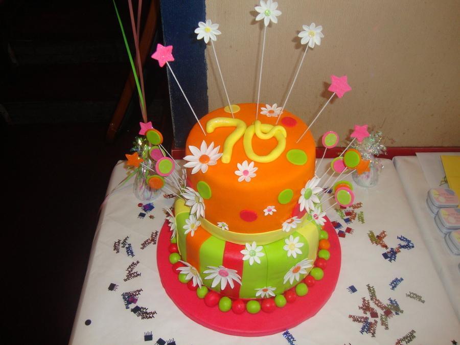 Th Birthday Cake Burgundy Flowers