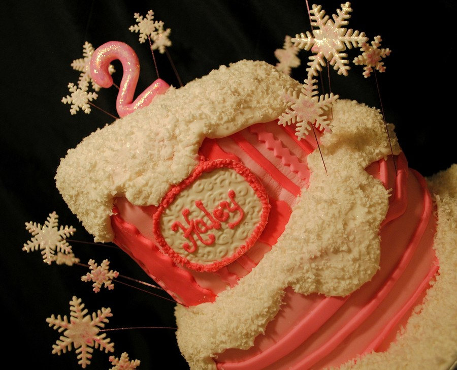 White Cake With Maple Buttercream Snowflakes And 2 Are Gumpaste And Cakes Are Covered In Fondant on Cake Central