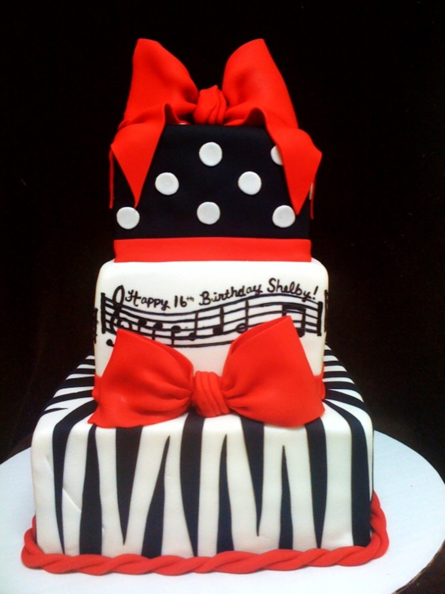 Wondrous Zebra And Music Cakecentral Com Personalised Birthday Cards Petedlily Jamesorg