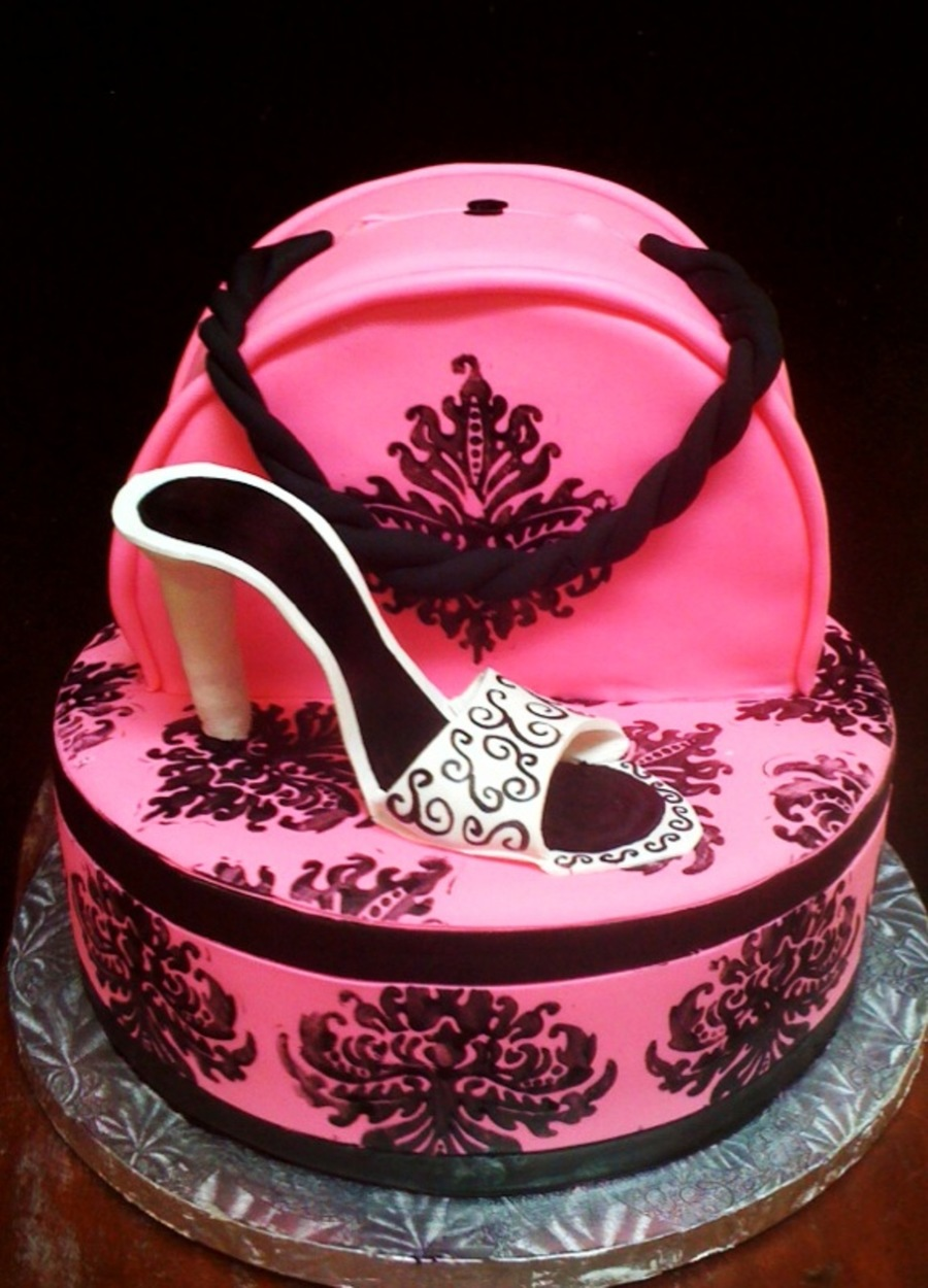 Hat Box And Purse Cake CakeCentralcom