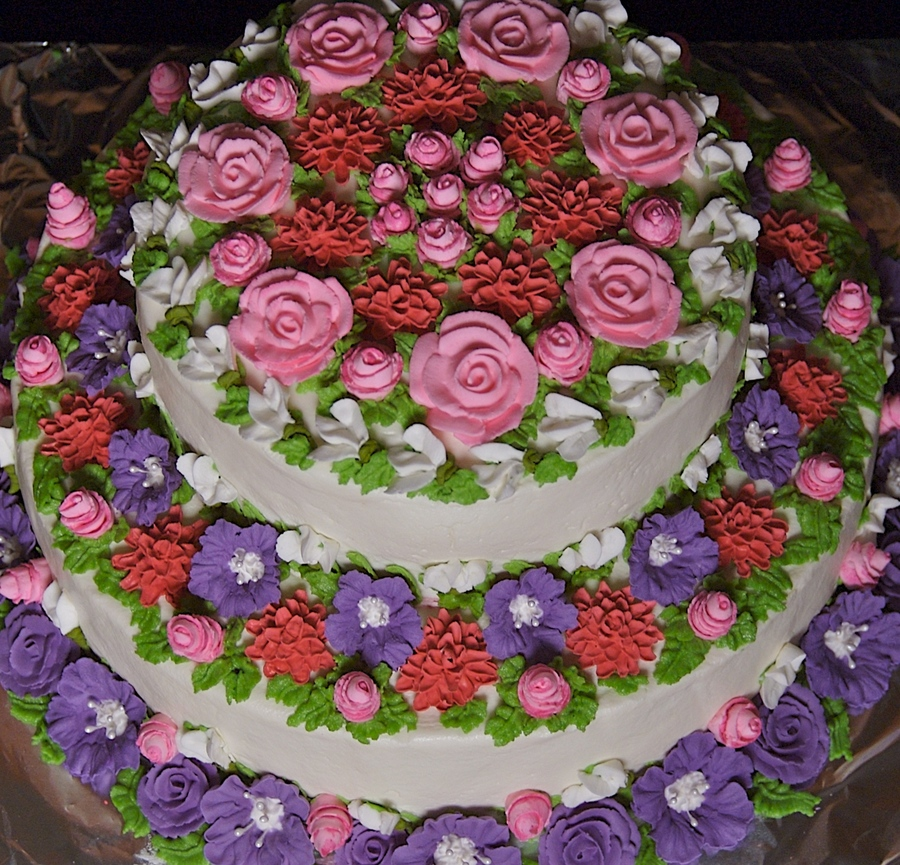 Royal Icing Spring Flowers Cake on Cake Central