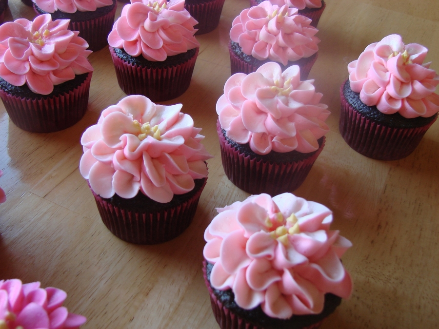 Pink Flower Cupcakes Cakecentral Com