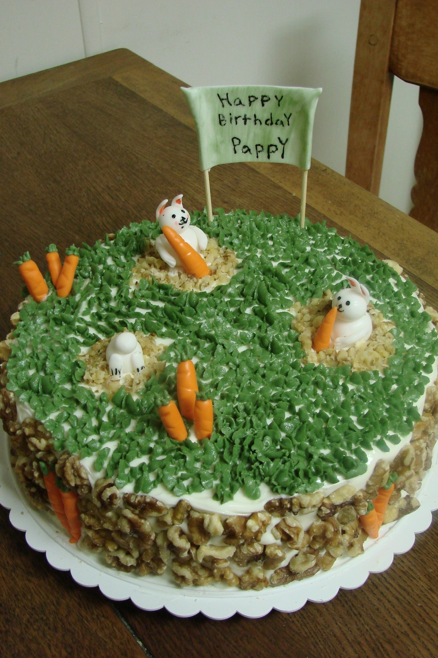 Carrot Cake W/ Bunnies on Cake Central