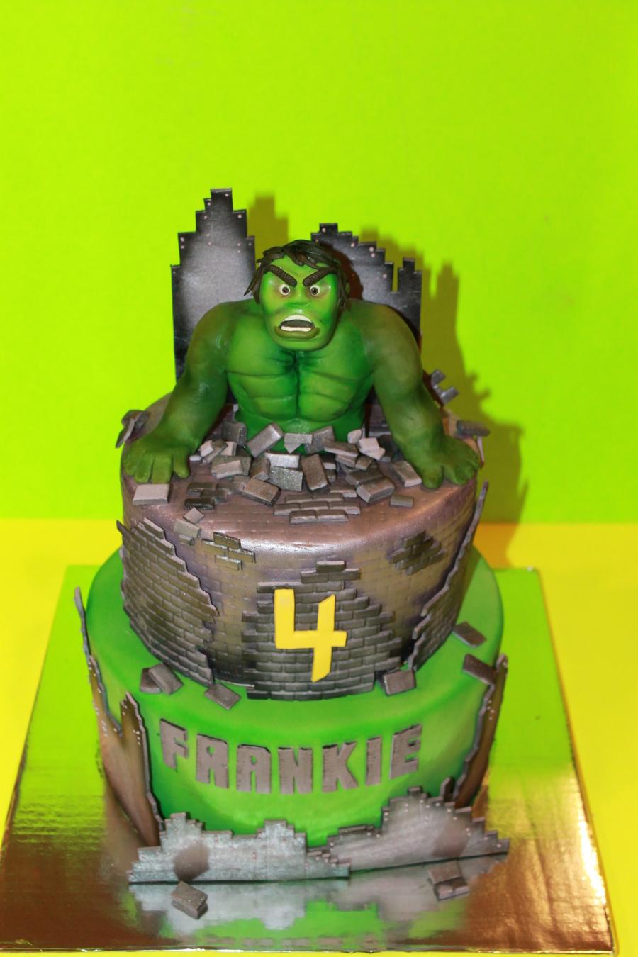 Incredible Hulk Cake CakeCentralcom