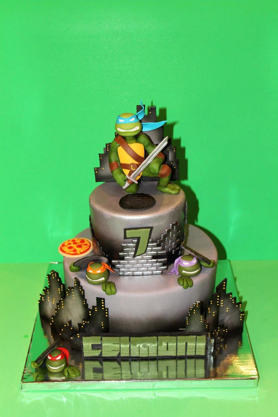 Ninja Turtle St Birthday Cake