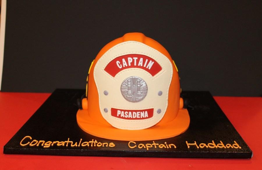 Firefighter Promotion Cake