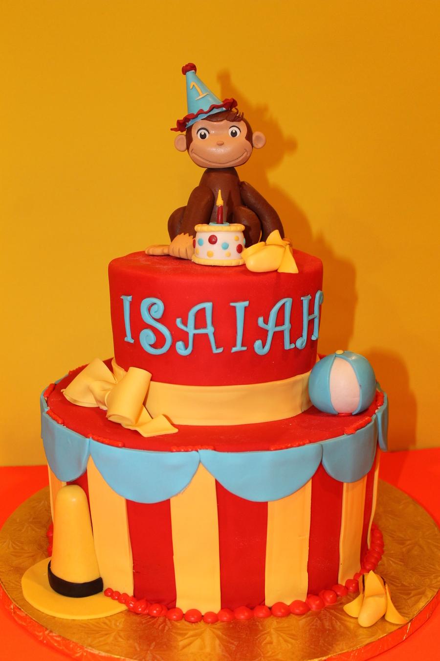 Curious George Cake - CakeCentral.com