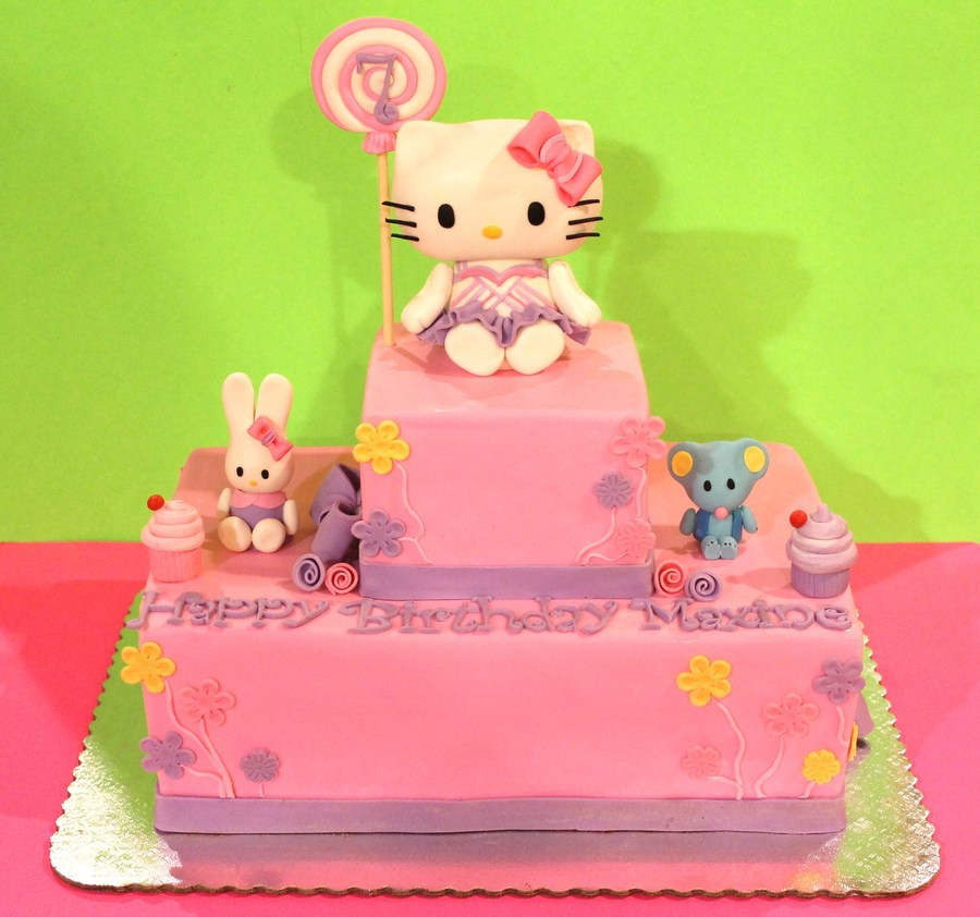 Hello Kitty And Friends Cake on Cake Central