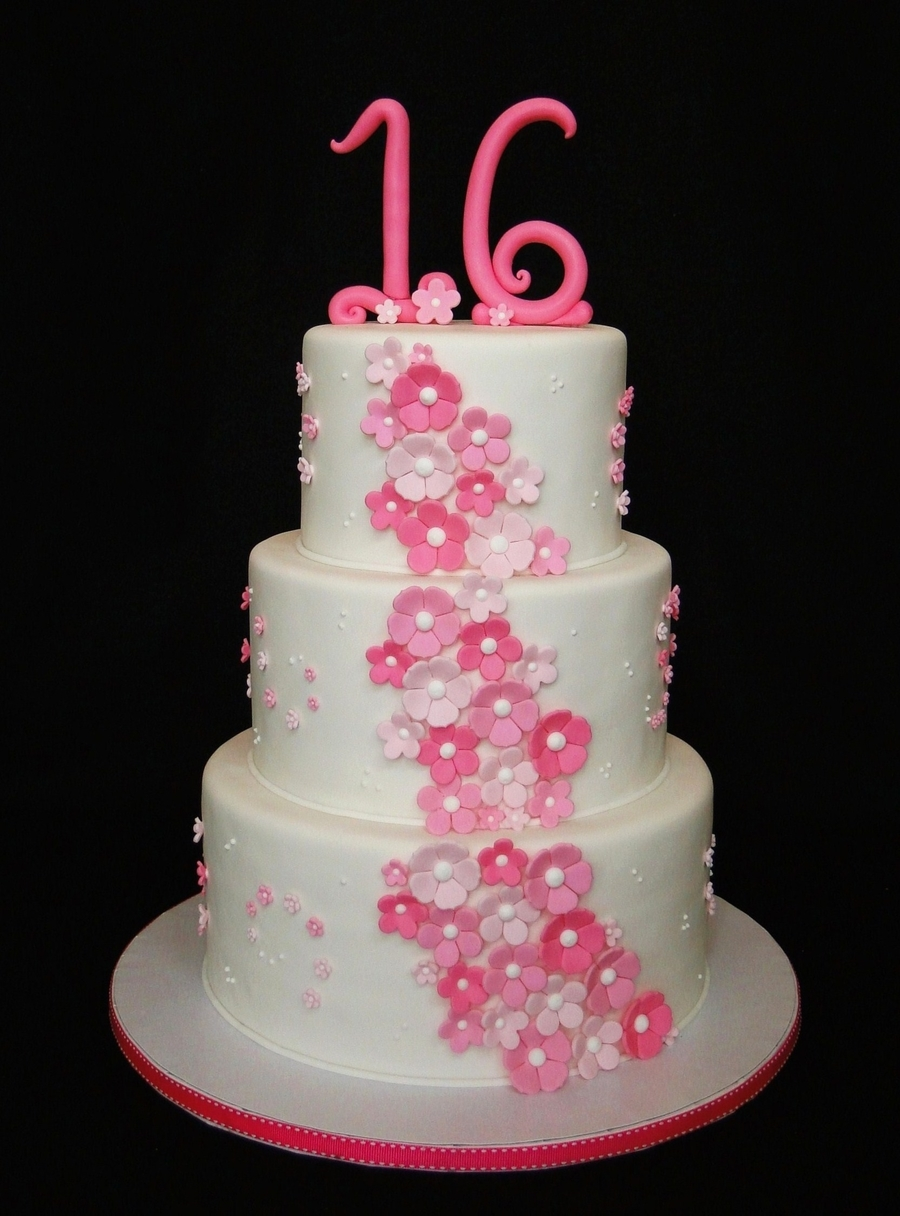 Pretty N Pink Sweet 16 on Cake Central