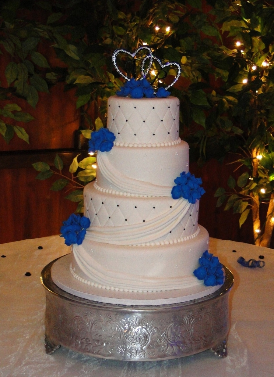 Blue Hydreangea Wedding on Cake Central