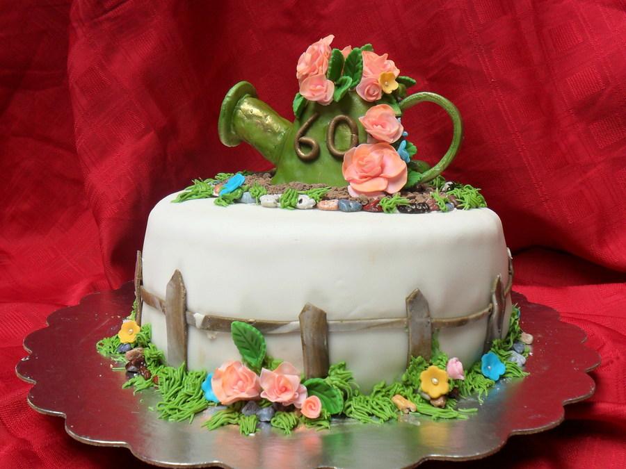 Garden 60th Birthday Cake Cakecentral