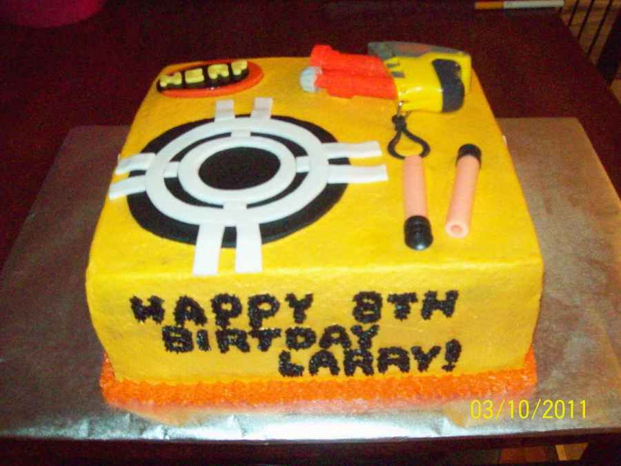 Nerf B-Day Cake on Cake Central