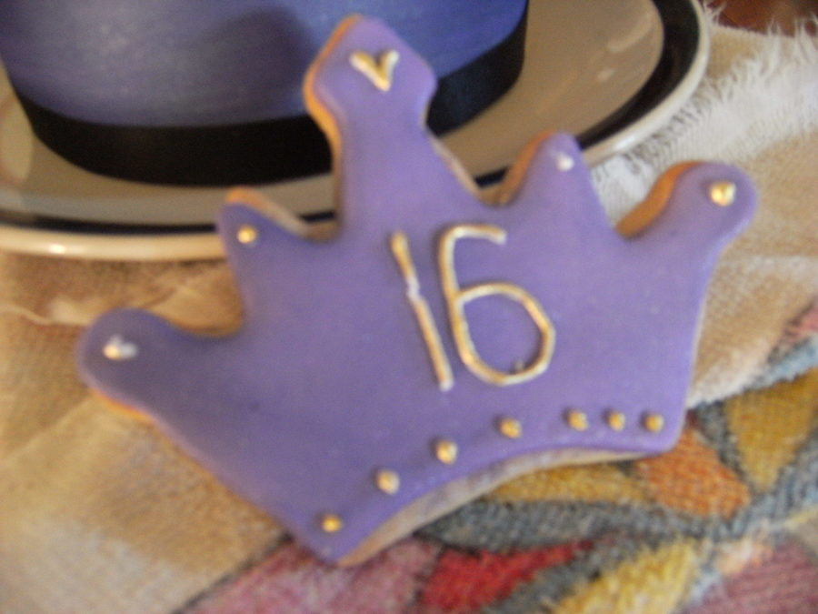 Purple Cookies For 16Th on Cake Central