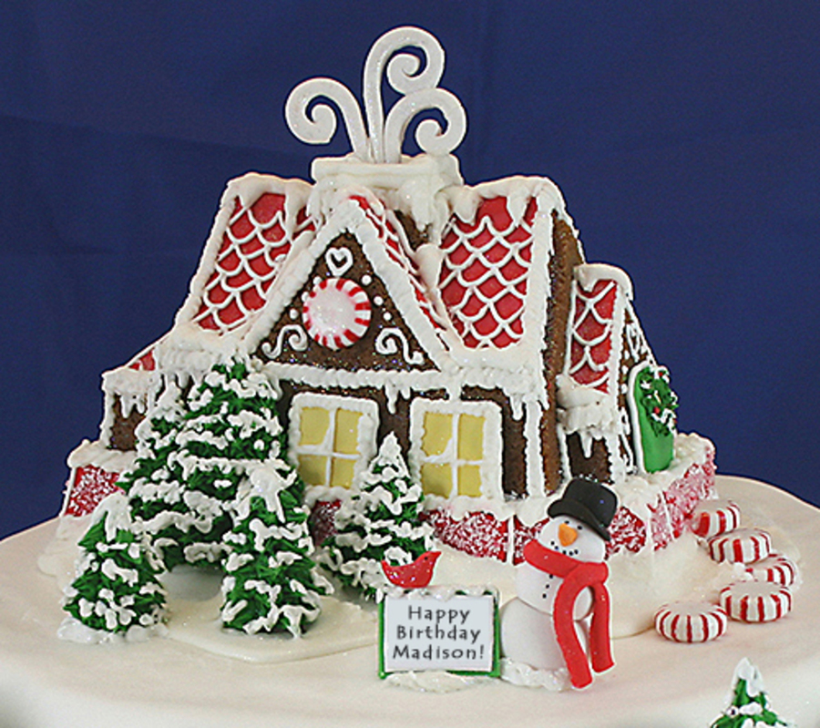 Awesome Gingerbread House Cakecentral Com Funny Birthday Cards Online Hetedamsfinfo