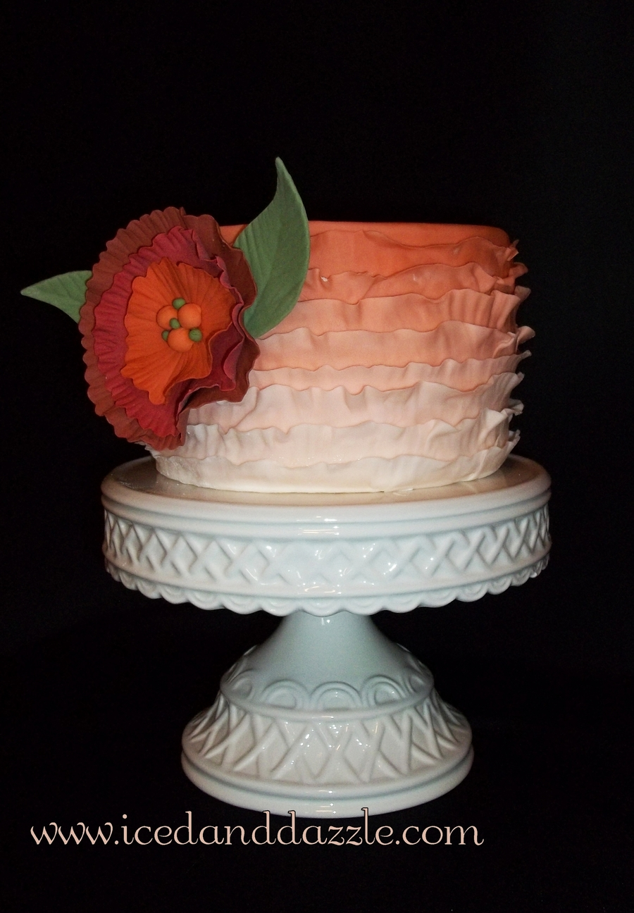 Fall Ombre on Cake Central