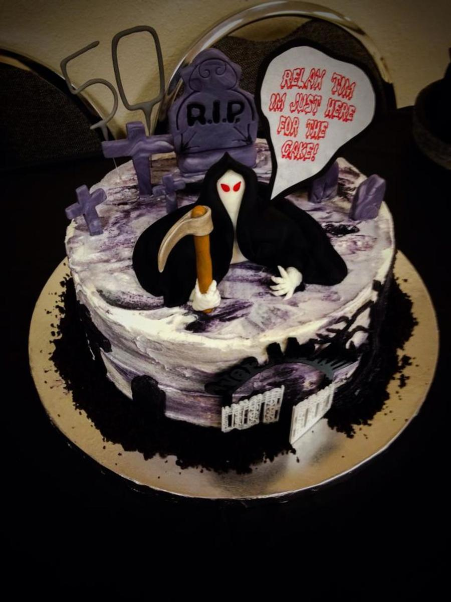 Grim Reaper 50th Birthday Cake Cakecentral Com