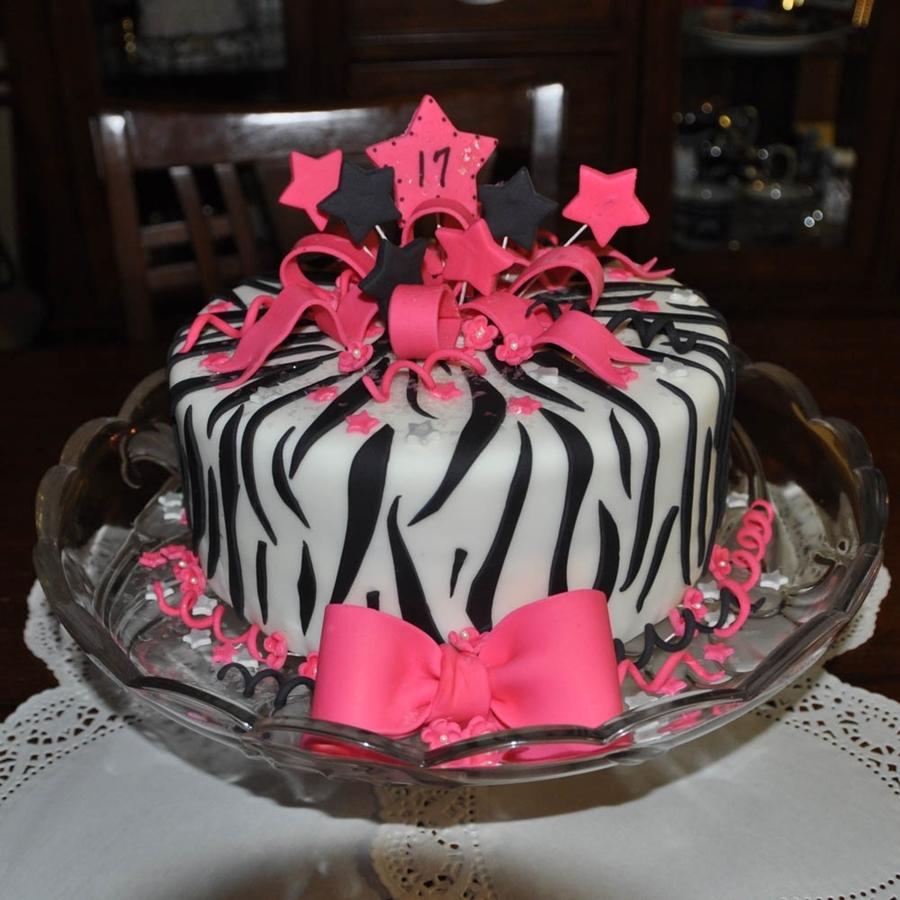 Zebra Print And Hot Pink Birthday