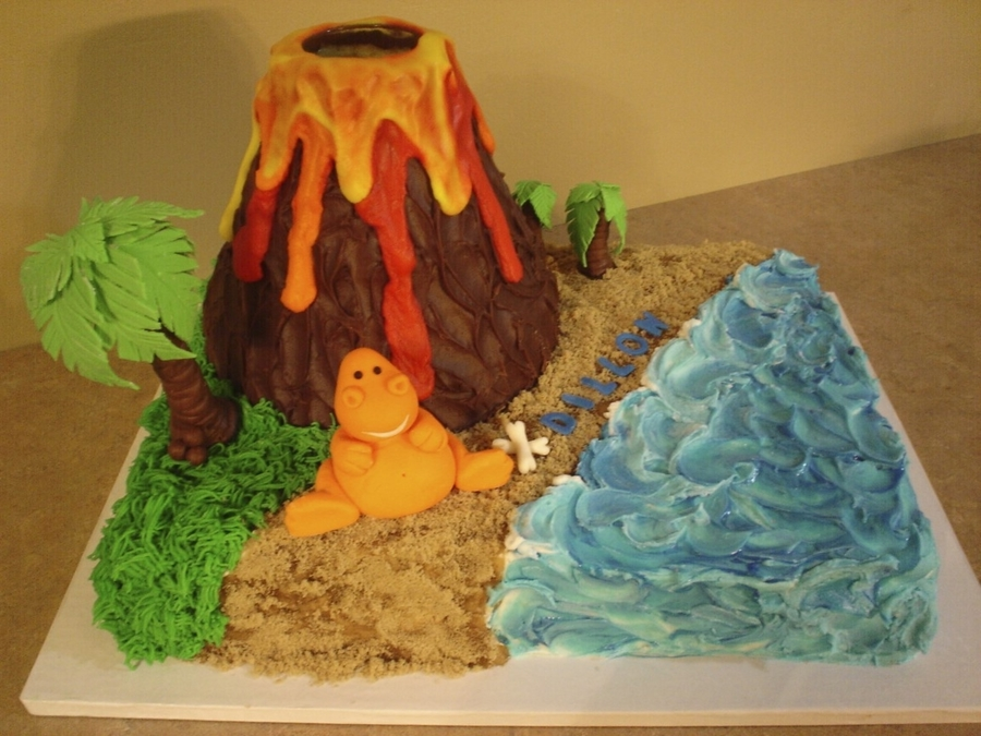 How To Make An Exploding Volcano Cake