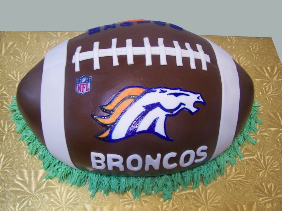 Broncos Football Cake on Cake Central