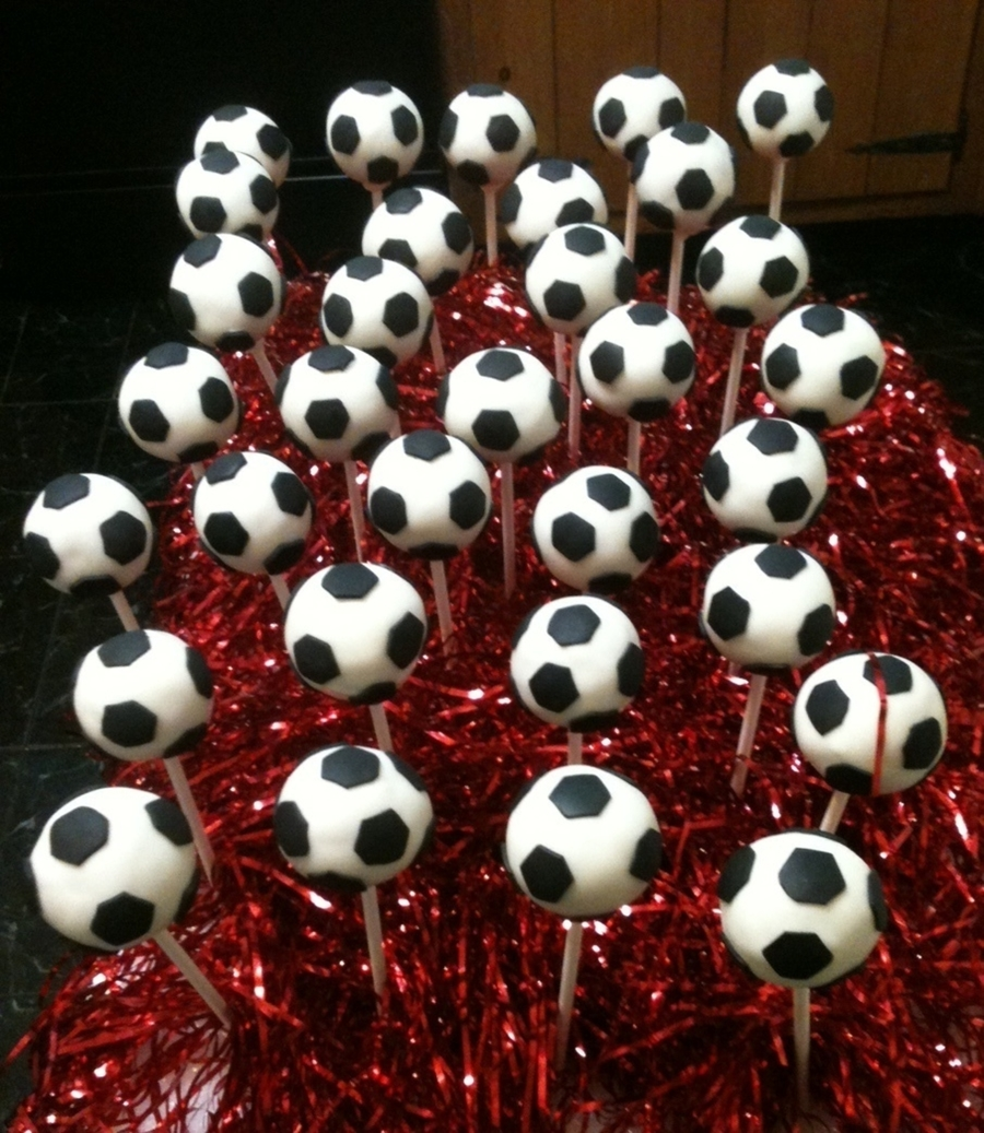 Soccer Ball Cake Pops on Cake Central