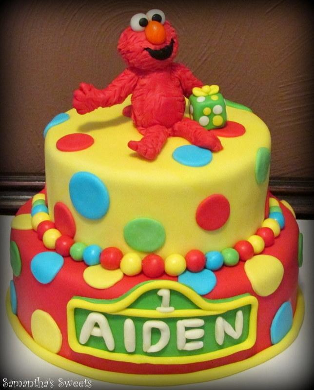 Elmo 1St Birthday Cake CakeCentralcom