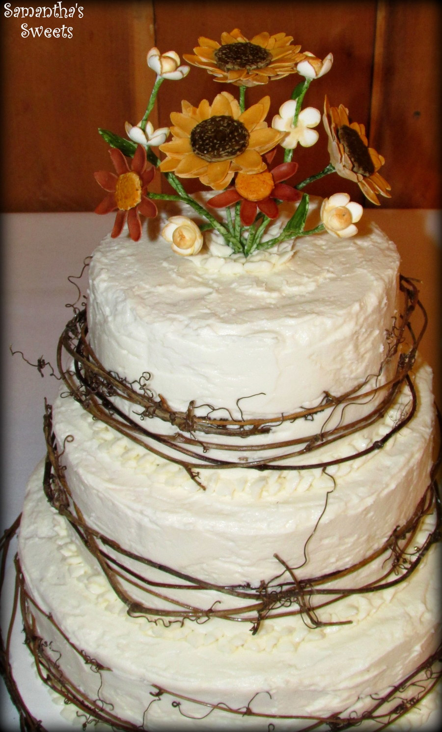 wedding cakes rustic rustic wedding cake with sugar flowers amp twigs by 25402