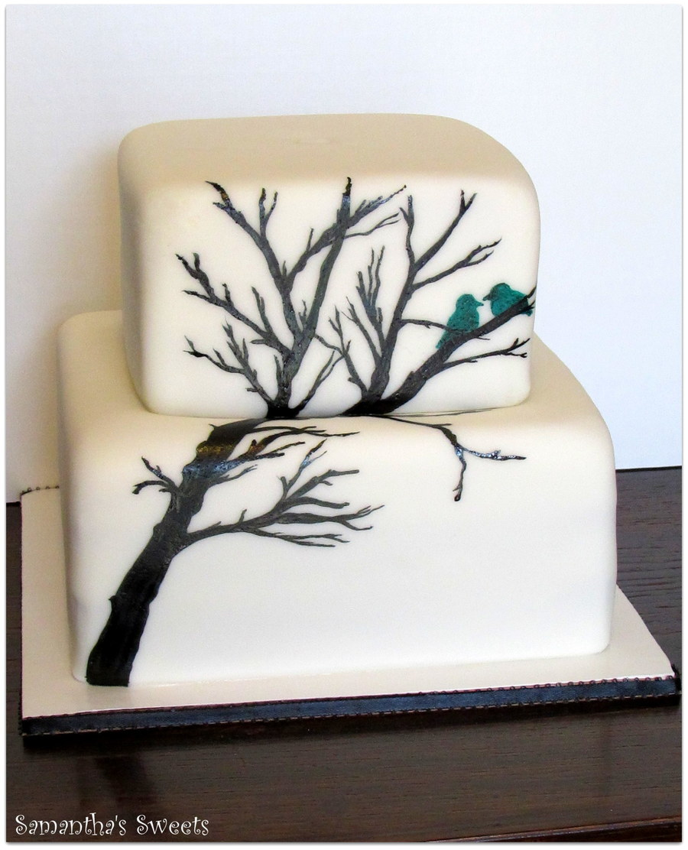 Love Birds & Branches Wedding Cake - CakeCentral.com