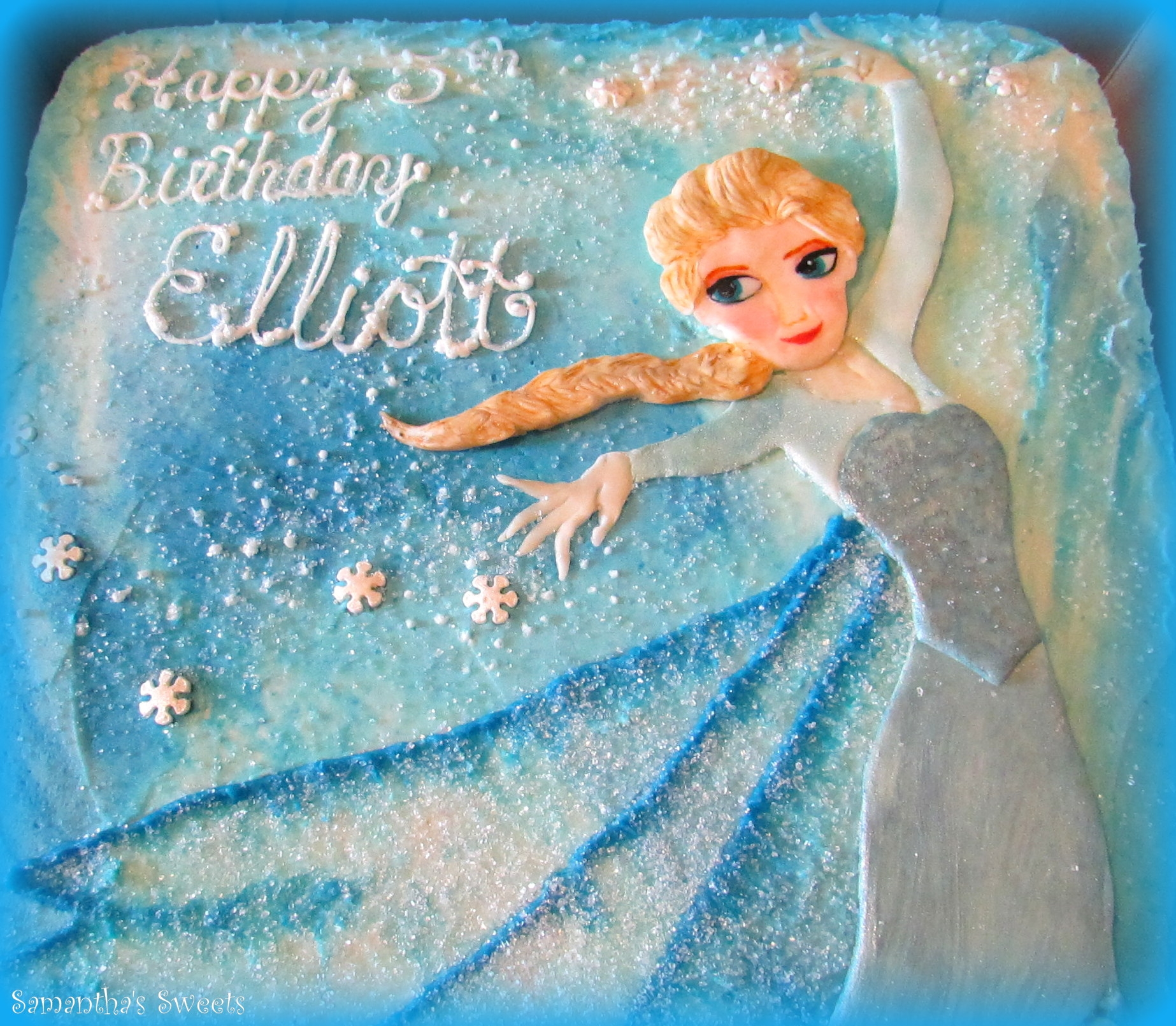 Elsa Birthday Cake CakeCentralcom