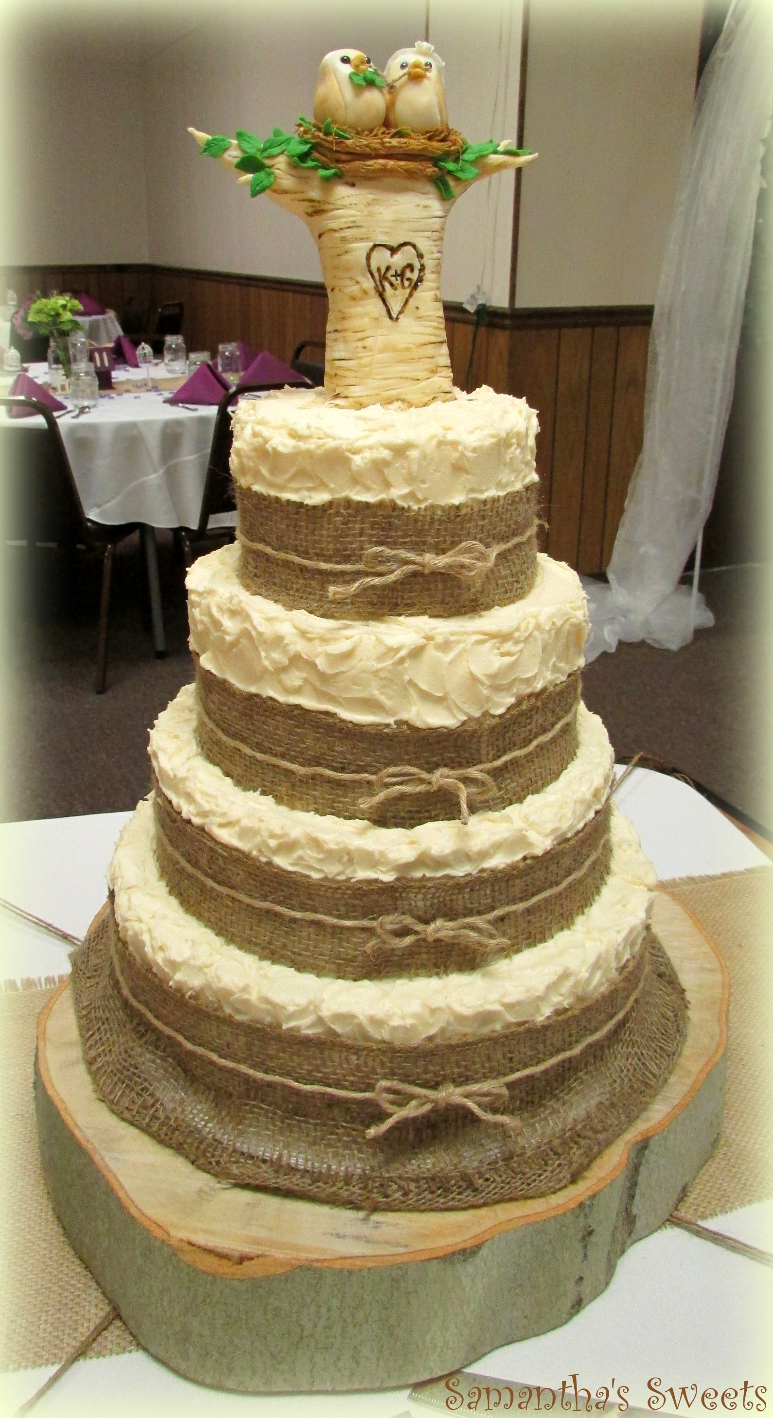 Love Birds Tie The Knot Wedding Cake Fondant Love Birds ...