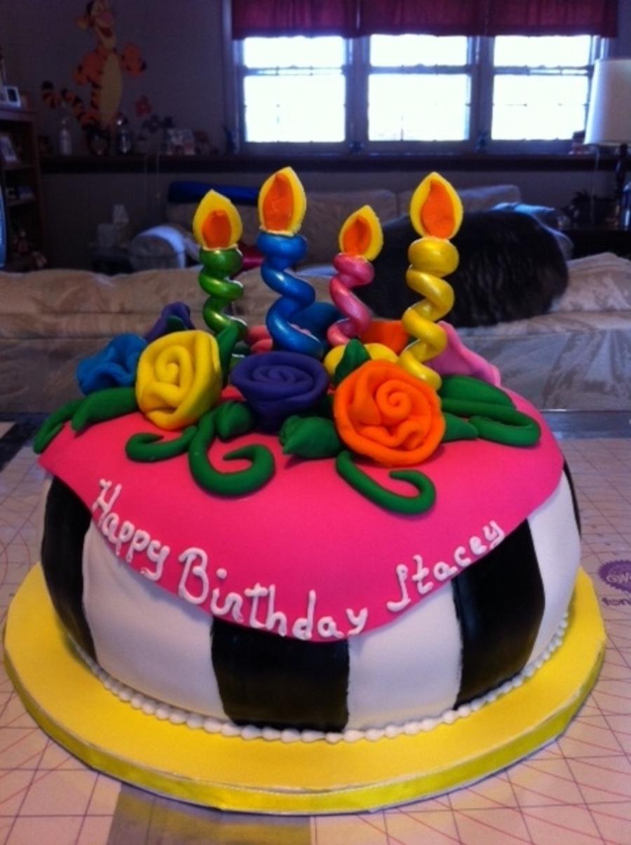 Amazing Neon Birthday Cake Cakecentral Com Birthday Cards Printable Riciscafe Filternl