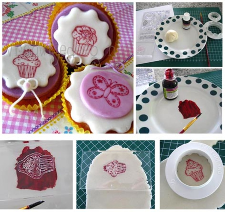 How To: Imprint With Clear Stamps on Cake Central