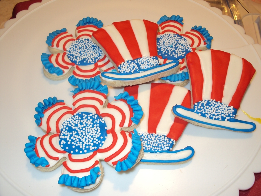 Patriotic Cookies on Cake Central