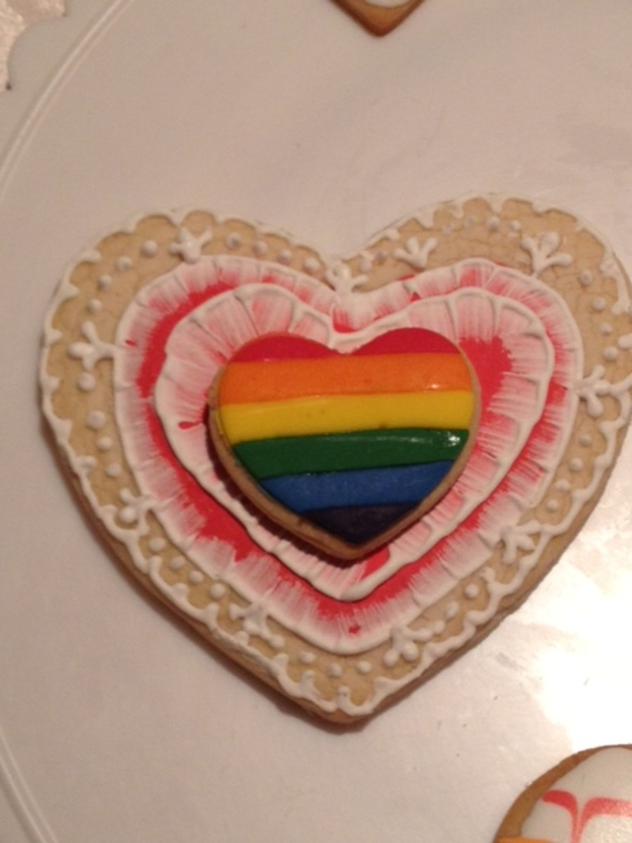 Gay Valentines Cookie on Cake Central