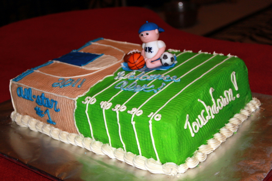 Baby Shower Sports Theme Cake Cakecentral
