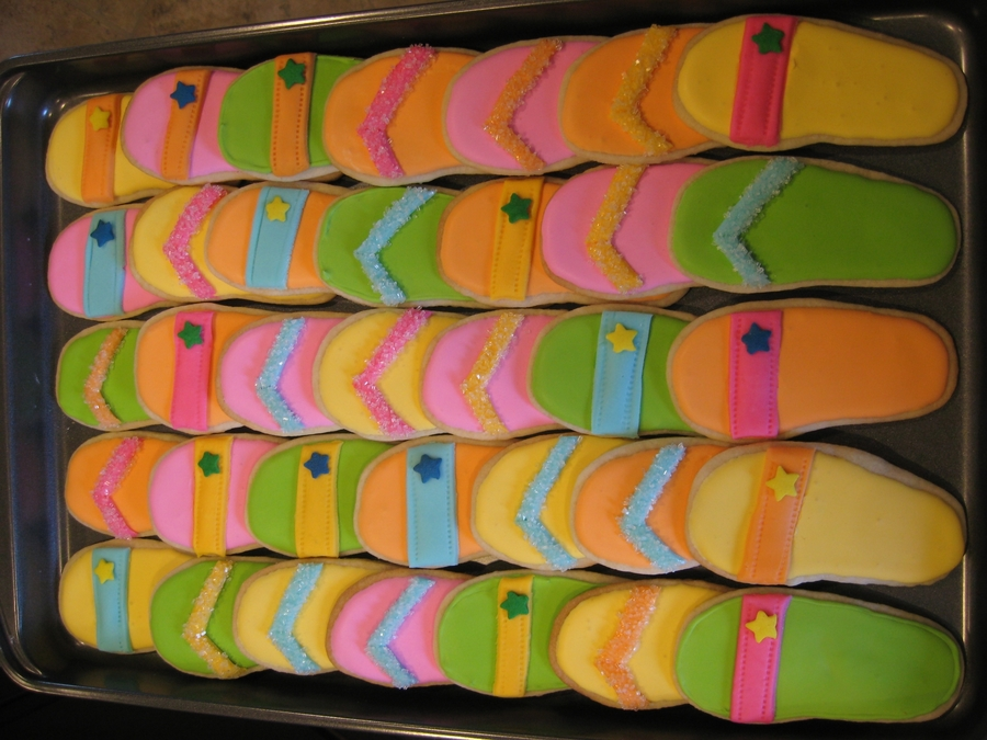 Flip Flop Sugar Cookies on Cake Central