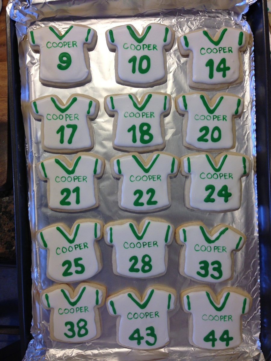 Football Jersey Cookies on Cake Central