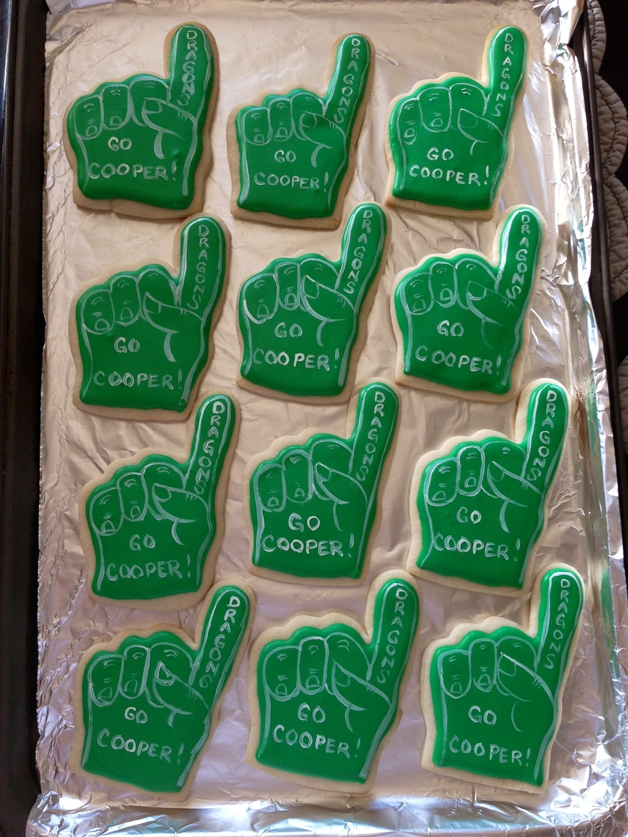 Foam Finger Sugar Cookies  on Cake Central