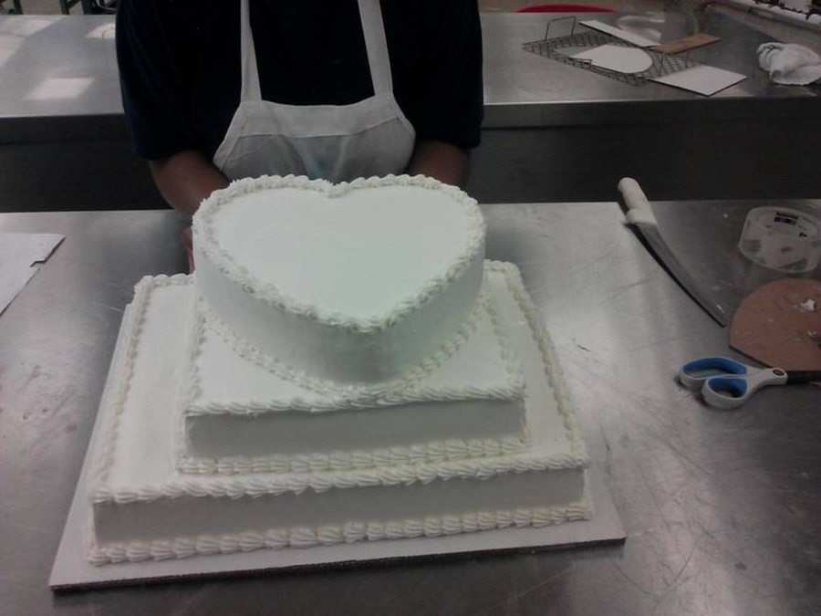 Wedding Cake Created By 3 Talented Women At My Job. on Cake Central